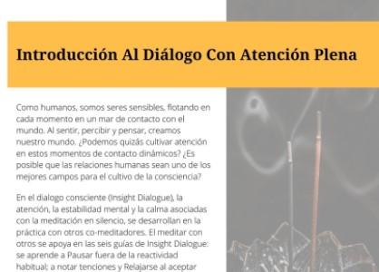 Seminario Introducción al diálogo con atención plena